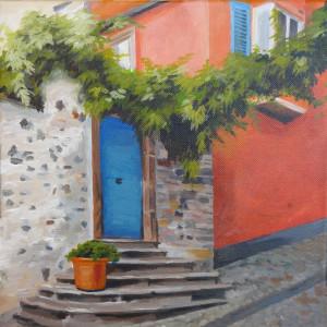 Ingrid Wenz-Gahler 2015 Eingang Ferienwohnung Acryl auf Leinwand 30X30 www.kunstgalerie.ws/255
